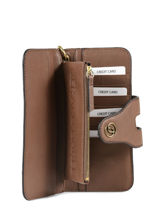 Wallet Leather Gerard darel Brown gd DHO01410-vue-porte