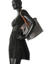 Shoulder Bag A4 Studs Miniprix Gray studs MD2721-vue-porte