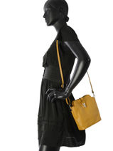Mini-bag  Leather Milano Yellow 122-vue-porte