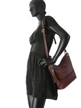 Shoulder Bag  Leather Milano Violet CA17116-vue-porte