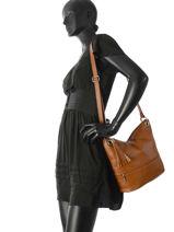 Shoulder Bag  Leather Milano Brown CA17116-vue-porte