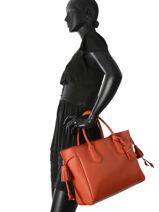 Longchamp Pénélope Handbag Orange-vue-porte