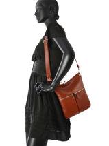 Longchamp Sacs porté travers Marron-vue-porte
