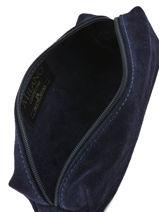 Trousse Cuir Milano Bleu velvet VE151101-vue-porte