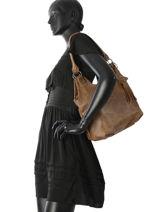 Sac Porté épaule Hedley Fuchsia Noir hedley F9762-7-vue-porte