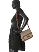 Crossbody Bag Leisure Fuchsia Brown leisure F9774-1-vue-porte