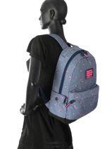 Sac à Dos 1 Compartiment Superdry Bleu backpack woomen G91007JR-vue-porte