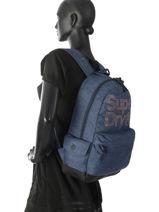 Backpack 1 Compartment Superdry Blue backpack woomen G91007MR-vue-porte