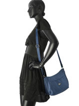 Shoulder Bag Fidele Hexagona Blue fidele 323908-vue-porte