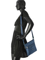 Shoulder Bag Fidele Hexagona Blue fidele 323909-vue-porte