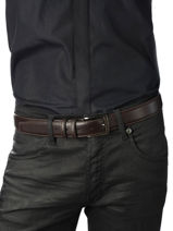 Belt Adjustable Petit prix cuir Brown classic 937-vue-porte