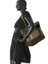 Shoulder Bag A4 Gallantry Green JS2360-vue-porte
