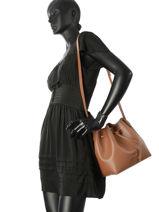 Crossbody Bag Pur Lancaster Black pur 423-10-vue-porte