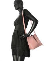Crossbody Bag Pur Smooth Lancaster Pink pur smooth 423-10-vue-porte
