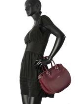 Handbag Vendome Lancaster Red vendome 432-13-vue-porte