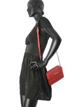 Crossbody Bag Parisienne Matelasse Leather Lancaster Red parisienne matelasse 521-96-vue-porte