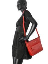 Crossbody Bag Signature Leather Lancaster Red signature 527-22-vue-porte