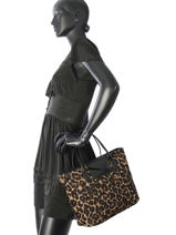 Shopping Bag A4 Maya Leopard Lancaster Brown maya leopard 517-55-vue-porte
