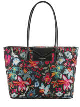 Sac Porte Epaule A4 Maya Shiny Flower Lancaster Noir maya shiny flower 517-42