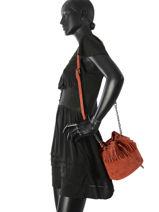 Longchamp Paris Rocks Velours Messenger bag Brown-vue-porte