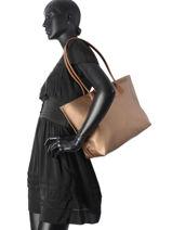 Shoulder Bag A4 Lancaster Black maya 517-20-vue-porte