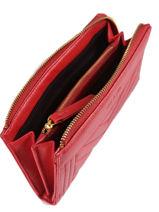 Wallet Leather Nat et nin Red vintage LENA-vue-porte
