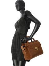 Top Handle Vintage Nat et nin Brown vintage JOSEFIN-vue-porte