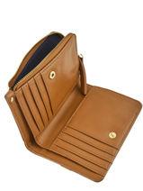 Wallet Leather Nat et nin Yellow vintage ROSIE-vue-porte