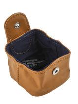 Purse Leather Nat et nin Yellow vintage SWEETIE-vue-porte