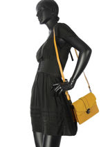 Shoulder Bag Luga Milano Yellow luga LU19062-vue-porte