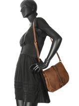 Crossbody Bag Authentic Torrow Brown authentic X6616-vue-porte