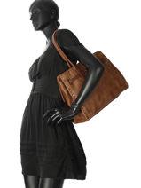 Shoulder Bag A4 Authentic Torrow Brown authentic X6751-1-vue-porte