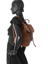 Backpack Torrow Brown authentic X52711-vue-porte
