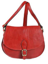 Sac Bandoulière Tempo Cuir Milano Rouge tempo TE18062