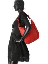 Hobo Bag Dewashed Leather Milano Blue dewashed DE17113-vue-porte