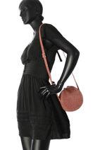 Crossbody Bag Girofle Leather Petite mendigote Black spices GIROFLE-vue-porte