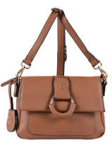 Shoulder Bag Anneau Lulu castagnette Brown anneau JASPER