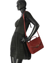 Sac Bandouliere Shadow Petite mendigote Rouge angeles SHADOW-vue-porte