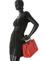 Sac Porte Main L Karry All Cuir Karl lagerfeld Rouge karry all 86KW3026-vue-porte