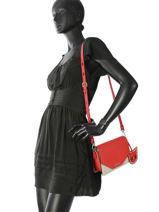 Shoulder Bag Karry All Leather Karl lagerfeld Red karry all 86KW3028-vue-porte
