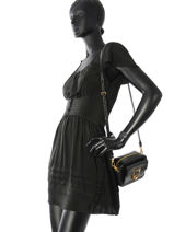 Shoulder Bag Cat Lock Karl lagerfeld Black cat lock 86KW3106-vue-porte