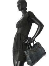 Shopping Bag Classic Leather Basilic pepper Blue classic BCLA02-vue-porte