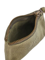 Purse Leather Basilic pepper Green cow BCOW93-vue-porte