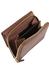 Wallet Leather Crinkles Brown 14201-vue-porte