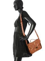 Crossbody Bag Vintage Leather Paul marius Beige vintage GEORGE-vue-porte