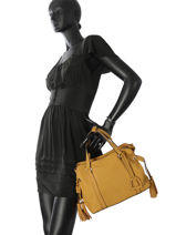 Shopper Tradition Leather Etrier Yellow tradition EHER024-vue-porte