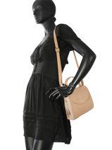 Shoulder Bag Camelia Woomen Beige camelia WCAME03-vue-porte