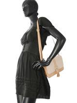 Shoulder Bag Camelia Woomen Beige camelia WCAME04-vue-porte