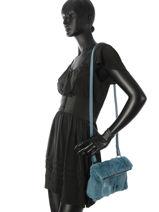 Longchamp Give me a hug Messenger bag Blue-vue-porte
