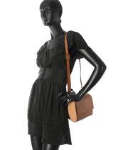 Shoulder Bag Hortensia Woomen Brown hortensia WHORT01-vue-porte